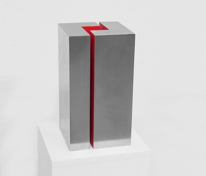 Arno Kortschot Geometric Abstraction Zinc Sculpture